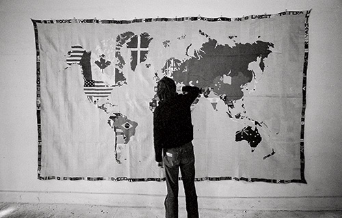 Alighiero Boetti, Kunsthalle Basel, 1978, photo by Gianfranco Gorgoni