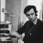 Alighiero Boetti alla batteria, 1974 - foto Antonia Mulas