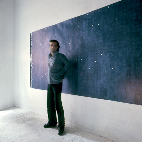 Alighiero Boetti, 1974, photo by Antonia Mulas