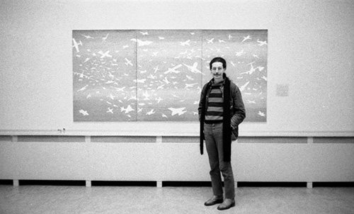 Basel, Guido Fuga in front of the Aerei, 1978