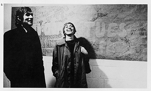 Alighiero Boetti and Annemarie Sauzeau at the Seminary at the University of Hartford, USA, 1975