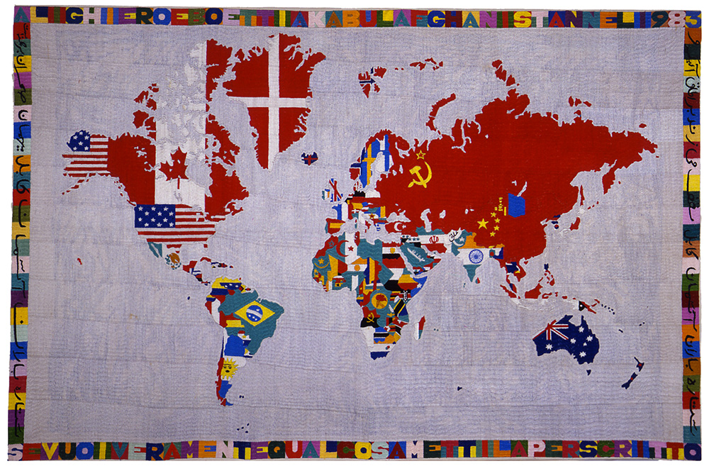 Mappa 1983 ricamo su tela cm 117 X 175