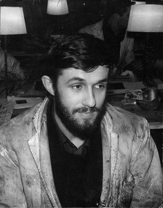 Alighiero Boetti at the Friedlander studio in Paris, 1963, photo by Annemarie Sauzeau