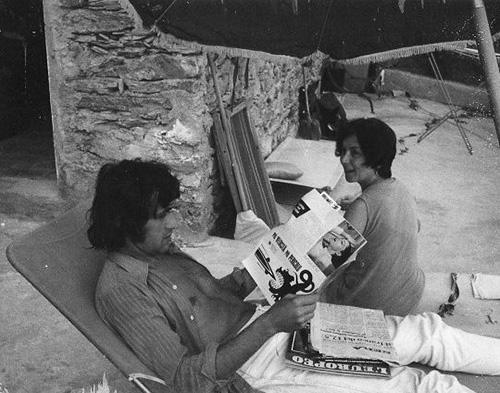 Alighiero Boetti and Annemarie in Vernazza, 1976