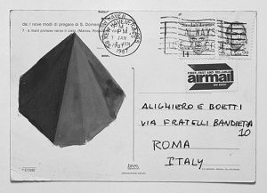 Postcard sent by Sol Lewitt to AB, courtesy Carol Lewitt