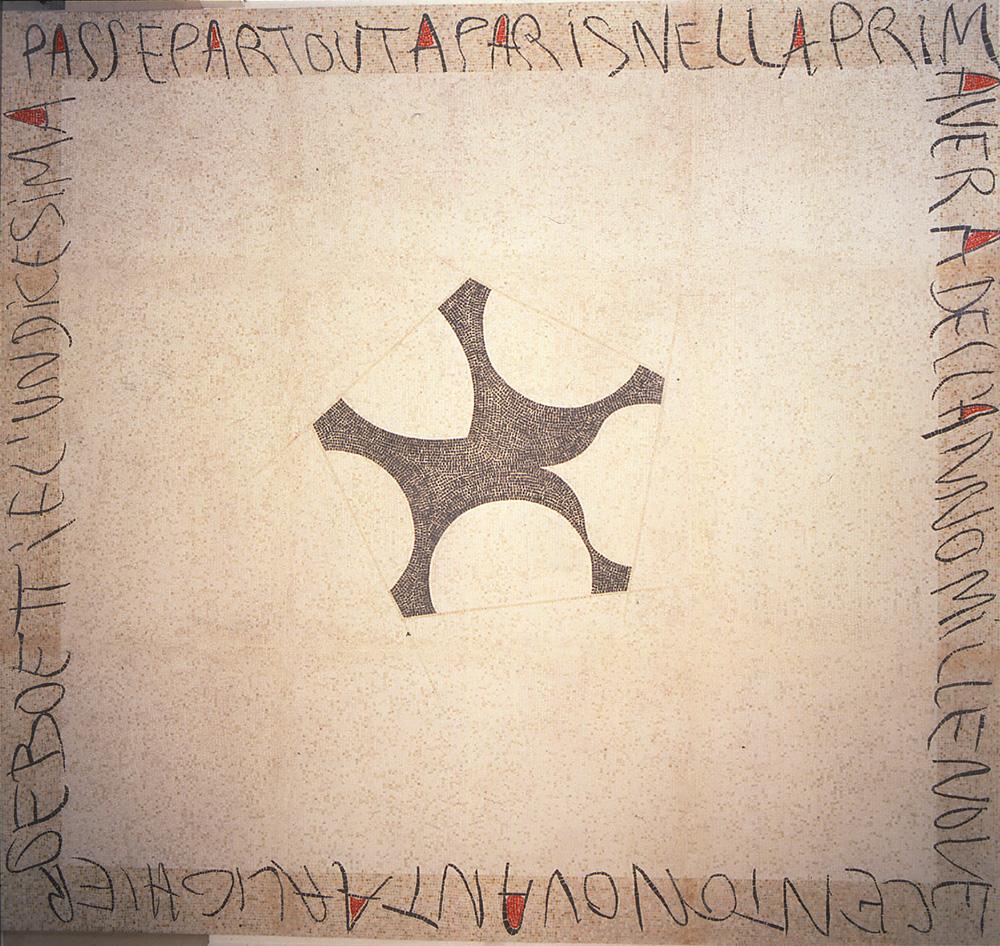 Passepartout 1990 mosaico cm 380 X 320