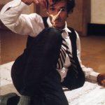 Alighiero Boetti nel suo studio, 1989 - foto Randi Malkin Steinberger