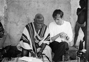 Alighiero Boetti e Frédéric Brouly Bouabré, Abidjan Costa d'Avorio - foto di Caterina Raganelli Boetti