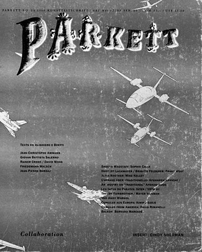 Copertina Parkett, n°24, giugno, 1990