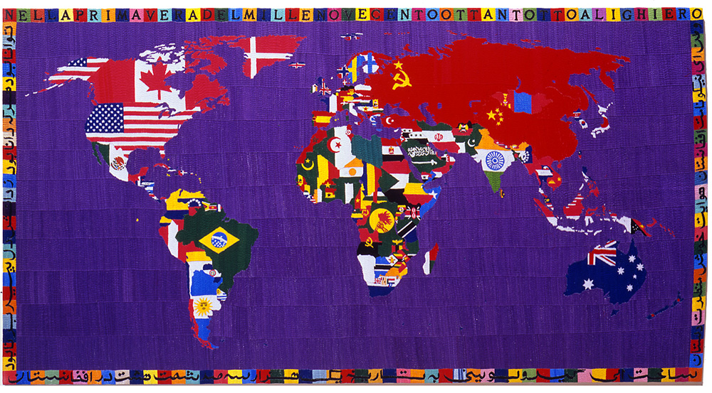 Mappa 1988 -89 ricamo su tela cm 120 X 220