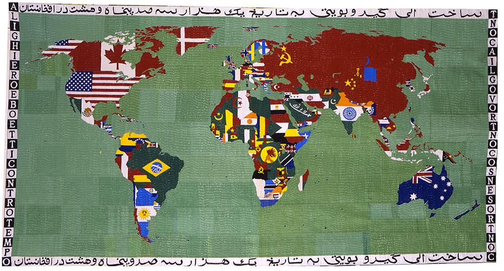 Mappa 1989 ricamo su tela cm 120 X 220