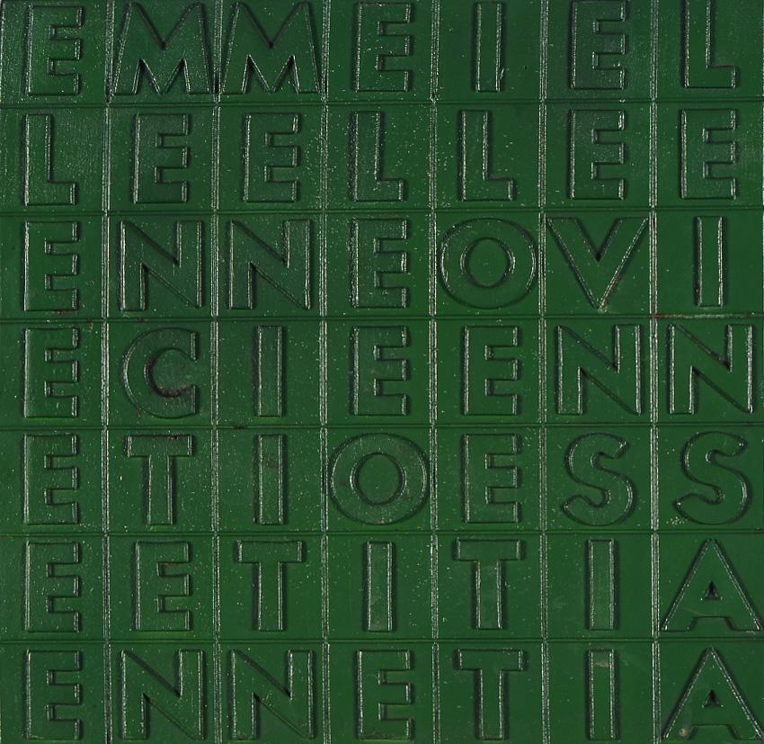 Millenovecentosettanta-1970-vernice-spray-su-fusione-in-ghisa-cm-35-X-35-X-3