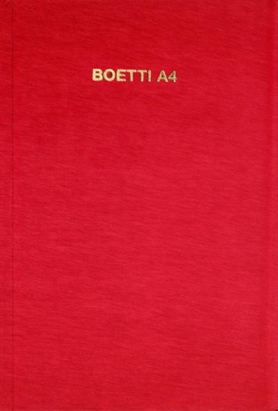 BOETTI A4 - Annemarie SAUZEAU e Hans Ulrich OBRIST