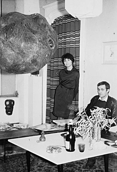 Alighiero Boetti e Annemarie Sauzeau nel 1964