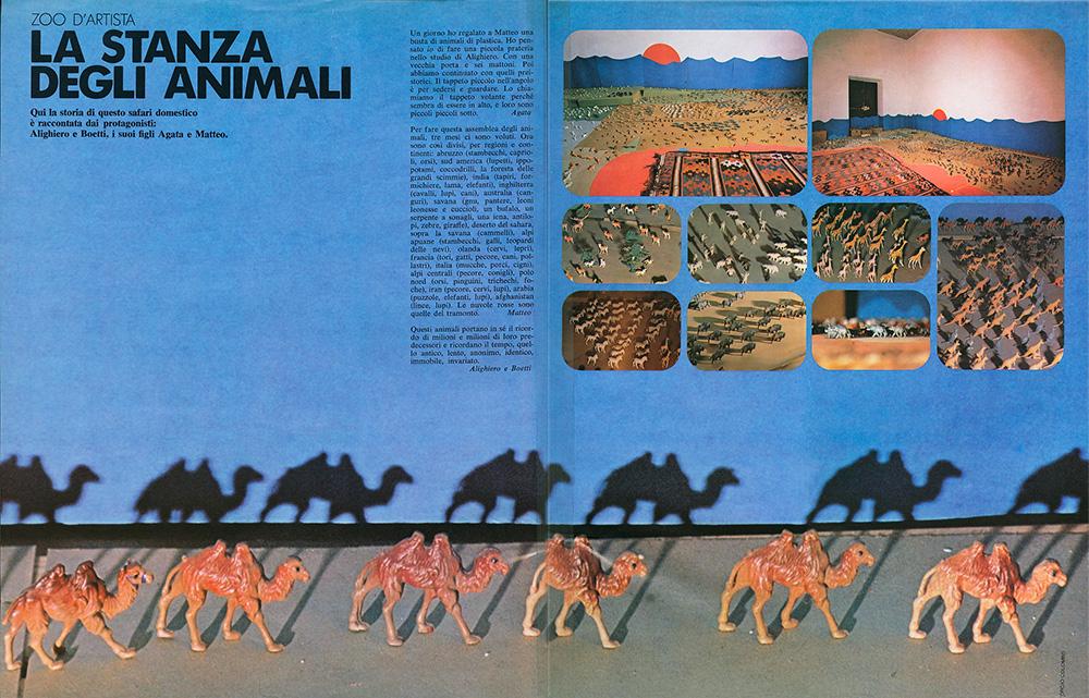 1980 istallazione realizzata con Agata e Matteo Boetti